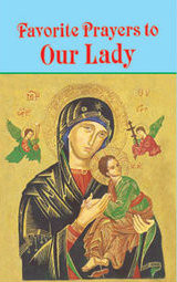 Favorite Prayers to Our Lady offers prayers from the Church's Liturgy and Tradition including Novenas, Devotions, and prayers for a variety of occasions. A wonderful year-round resource, Favorite Prayers to Our Lady contains prayers for every day of the week and every month of the year. With a lovely illustrated front cover, this 150-page, large print volume is printed and illustrated in two colors. This edition has been updated in accord with the Roman Missal