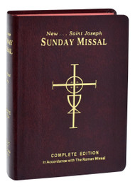 "This all-inclusive, complete and permanent St. Joseph Sunday Missal contains all the official Mass prayers for Sundays and Holy Days that are now in use throughout America. It includes the complete 3 year cycle of Sunday readings (for years A,B & C) and all the prayers from the Roman Missal. These prayers are repeated for each cycle of reading to make this Missal ""easy to use"" and to eliminate unnecessary page-turning. Calendar to year 2029. Catholics of all ages will truly treasure this excellent Missal designed to last a lifetime.  Calendar to year 2029. 1600 pages, 4 1/4"" x 6 1/4"". Many Special Features: Mass Theme and Biblical Commentaries; People's Parts in Bold Type; Magnificent Full-Color Illustrations; Binding Styles are Sewn."