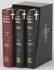 Complete Gift Box 3-Volume Set is all any Catholic will ever need to full participate in every Mass of the year. The gift box 3-Volume Set offers three essential volumes in an attractive and sturdy gold-embossed black imitation leather case, including the two-volume Weekday Missals (Vols. I & II) and the complete and permanent one-volume Sunday Missal (years A, B, C). Easy to use as they follow the liturgical year, the two-volume perpetual Weekday Missals contain all regular and optional Weekday Masses with Volume I covering Weekday Masses for both Year I and Year II from Advent to Pentecost and Volume II covering from Pentecost to Advent. Volume III in the Saint Joseph Daily and Sunday Missal Complete Gift Box 3-Volume Set is the complete and permanent Saint Joseph Sunday Missal, an all-inclusive Missal that provides the Lectionary readings and the celebrant's and people's prayers (in bold face) for Sundays and Holy days. With sewn bindings for durability with frequent use, all three volumes are bound in rich bonded leather with convenient zipper closures. Priced to save, this beautifully packaged Saint Joseph Daily and Sunday Missal Complete Gift Box 3-Volume Set is a priceless, all-encompassing resource for priests, religious and laity.