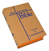 "The Medium-Size Student Edition of the St. Joseph New American (Catholic) Bible is the most popular medium-size student hardcover edition available. Includes the complete Old and New Testaments in large, easy-to-read 9-pt. type. Contains many helpful aids for easy Bible reading, including a valuable Bible Dictionary, self-explanatory maps, complete footnotes and cross-references. The user-friendly (5-1/2"" x 8"") size and handy edge-marking index make the St. Joseph New American Bible Medium-Size Student Edition ideal for schools, CCD, and study groups. Hardcover, bound in durable tan cloth binding. softcover available (609/04)"