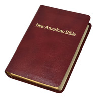 """Burgundy-The Personal-Size Gift Edition of the St. Joseph New American (Catholic) Bible includes the complete Old and New Testaments in compact easy-to-read type. Many helpful aids for easy Bible reading include a valuable Bible Dictionary, self-explanatory maps, a doctrinal Bible Index, complete footnotes and cross-references, and 32 full-color illustrations. Also contains 4-page presentation pages and an 8-page Family Record. The Personal-Size Gift Edition of the St. Joseph New American (Catholic) Bible will make a cherished gift. Convenient, compact size (4-1/2"""" x 6-1/2""""), sewn binding, flexible gold-stamped bonded leather, gift-boxed. Available in Burgundy, Brown or White. Pages: 1632"""