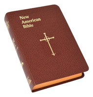 "The Personal-Size Gift Edition of the St. Joseph New American (Catholic) Bible includes the complete Old and New Testaments in compact easy-to-read type. Many helpful aids for easy Bible reading include a valuable Bible Dictionary, self-explanatory maps, a doctrinal Bible Index, complete footnotes and cross-references, and 32 full-color illustrations. Also contains 4-page presentation pages and an 8-page Family Record. The Personal-Size Gift Edition of the St. Joseph New American (Catholic) Bible will make a cherished gift. Convenient, compact size (4-1/2"" x 6-1/2""), sewn binding, flexible gold-stamped, imitation leather, brown, burgundy, or white. Red edging on  pages. Gift-boxed."