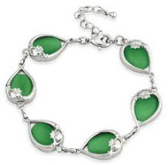Claddagh Cats Eye Bracelet