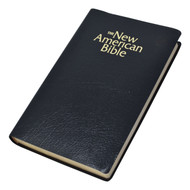 """Black - From all accounts, this is the best-priced gift Bible available in the New American Bible translation.  Features: Book Introductions, Cross-references, Imprimatur, List of the Popes, Maps, Parables, Miracles and discourses in chronological order, Presentation page, Revised New Testament and Psalms, Specific Catholic teachings footnoted. Antique Gold Edging on paper, 1440 pages, 5 1/2"""" x 8 5/8"""". J-Wrap packaging."""