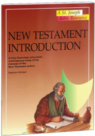 "New Testament Introduction. A fully-illustrated, entry-level, contemporary study of the story and message of the books of the New Testament. One volume in the St. Joseph Bible Resources series, New Testament Introduction provides  in a concise and accessible format, an entry-level contemporary study of the New Testament. In 32 pages, this fully illustrated book outlines the history, literature, religion, and teachings of the Christian Scriptures.  The New Testament Introduction is an invaluable resource for use in schools or Bible study groups, or for the individual inquirer.  6 1/2"" x 9"", 32 pages. Also in the reference series: New Testament Introduction, Bible Facts and Figures, Bible Atlas, The World of the Bible, People of the Bible and the Atlas of the Bible."