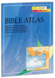 "A volume in the St. Joseph Bible Resources series, Bible Atlas provides essential Bible information in a concise and accessible format. In 32 pages, this full-color, fully illustrated atlas contains more than 30 original maps that illustrate the story of the Jewish people from the call of Abraham to the beginnings of the Christian Church, along with an index of places connected with the Bible. Bible Atlas provides a treasury of information about Sacred Scripture for use in schools, in Bible study groups, or for the individual inquirer.  6 1/2"" x 9"", 32 pages. Also in the reference series: New Testament Introduction, Bible Facts and Figures, Bible Atlas, The World of the Bible, People of the Bible and the Atlas of the Bible."