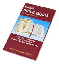 The Pocket Bible Guide presents essential teachings about the Bible in question-and-answer form. This handy pocket-sized paperback booklet will help Catholics know what the Bible is and prepare them to read it with a better understanding. The Pocket Bible Guide is attractively printed in two colors.