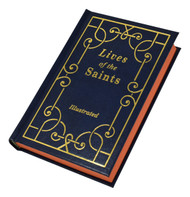 """Lives of the Saints hardcover book contains short, inspiring biographies of saints for each day of the year. A handy, popular, modern volume, Lives of the Saints is printed in large, easy-to-read type and features more than 70 beautiful illustrations.  Large type, Blue Cloth Hardcover, 528 pages, 4 1/4"""" x 6 3/8.  Also available: Lives of the Saints ~ Volume II (875/22) and Gold Gift Boxed Set Edition ~ Lives of the Saints Volumes I & II (876/GS)"""