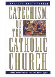 "Catechism of the Catholic Church ~ a complete summary of what Catholic's throughout the world believe in common. This book is the catechism (the word means ""instruction"") that will serve as the standard for all future catechisms. The Catechism draws on the Bible, the Mass, the Sacraments, Church tradition and teaching, and the lives of saints. It comes with a complete index, footnotes and cross-references for a fuller understanding of every subject. Using the tradition of explaining what the Church believes (the Creed), what she celebrates (the Sacraments), what she lives (the Commandments), and what she prays (the Lord's Prayer), the Catechism of the Catholic Church offers challenges for believers and answers for all those interested in learning about the mystery of the Catholic faith. Here is a positive, coherent and contemporary map for our spiritual journey toward transformation.  Pope John Paul II calls The Catechism of the Catholic Church ""a special gift."" 5"" X 6"" paperback"