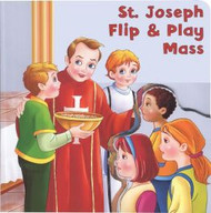 "For this small board book, children can flip the flap of the front cover onto each page so that it appears in each part of the Mass.  12 pages ~ 6"" x 6"""
