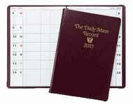 "Includes more than 14 months, from the first Sunday of Advent through January of the following year, with one 9 1/2"" x 13"" page per month for the year, and full liturgical information for each day, plus generous space to write appointments or notes.  Pages for parish statistics and specified/unspecified Masses."