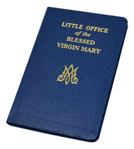 "The Little Office of the Blessed Virgin Mary contains the revised edition approved by the Sacred Congregation for Divine Worship and the United States Bishops' Committee on the Liturgy. This unique book, compiled and edited by Rev. John A. Rotelle, O.S.A., contains a wealth of Marian themes and texts in a format patterned after the Liturgy of the Hours. Printed in large type and in two colors and bound in flexible blue simulated leather, the Little Office of the Blessed Virgin Mary is an indispensable resource for all who wish to honor Mary in a way that harmonizes with the liturgy. 4 3/8"" X 6 3/4 ~ 192 pages"