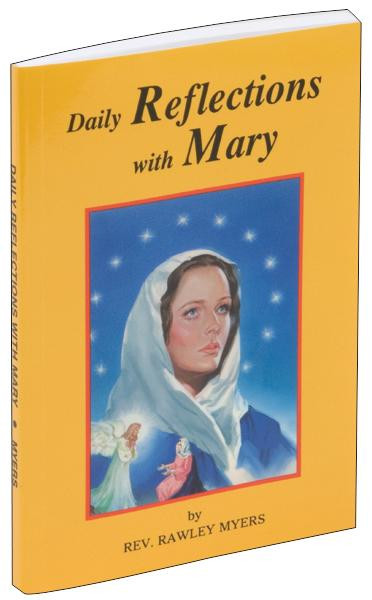 """Daily Reflections with Mary from Catholic Book Publishing is a reverently illustrated and beautifully printed book offering 31 prayerful Marian reflections supplemented by an impressive selection of prayers to Mary. This Daily Reflections with Mary by Rev. Rawley Myers demonstrates a deep love for Mary on every page and will be an encouragement for all who wish to pray with and to Mary. 96 pages ~ 4"""" x 6 1/4"""""""