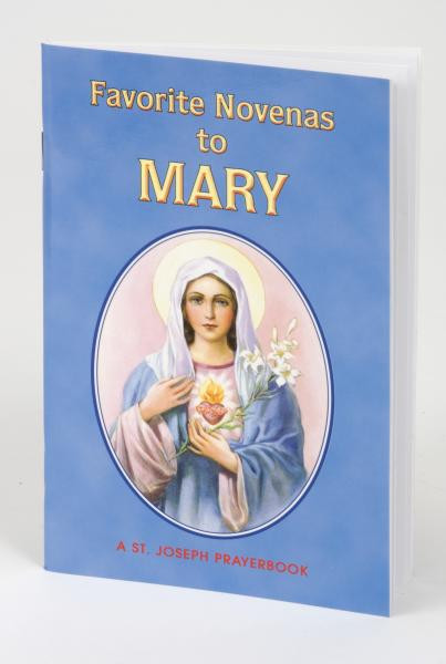 """Favorite Novenas to Mary is a delicately illustrated booklet filled with the most popular Novenas honoring Mary. Perfectly sized and printed in two colors for anywhere, anytime prayer, Favorite Novenas to Mary, by popular author, Rev. Lawrence Lovasik, S.V.D., is a 64-page, easy-to-use source of inspiring Novenas to the Blessed Mother. 4"""" x 6 1/4"""" ~ 64 pages"""