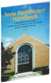 "An essential guide for new parishioners, this New Parishioners Handbook provides all the basic information needed for those joining a parish. The New Parishioners Handbook offers explanations and answers questions about why one should register promptly, how soon to arrange for a child's baptism, and when to notify the priest about when one plans to be married. This handy, large-type, 64-page booklet is simple to use and also provides lists of popular Christian Baptismal names. 4"" x 6 1/4"