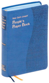 """900/19BLU~This new Saint Joseph People's Prayer Book has everything you need for prayer. The most comprehensive prayer book, the Saint Joseph People's Prayer Book is literally an encyclopedia of prayer. Edited by Rev. Francis Evans, the new Saint Joseph People's Prayer Book draws prayers from a wide variety of spiritual sources including the Bible, the Liturgy, the Enchiridion of Indulgences, the Saints, Church Scholars and other Spiritual Writers. At over 1,000 pages, this essential volume contains over 1,400 prayers for every need and occasion. With a durable maroon cover (4 1/2"""" x 6 3/4"""") and double ribbons for convenient place-keeping, this Saint Joseph People's Prayer Book is printed in two-color large type with full color illustrations."""