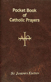 "This Pocket Book of Catholic Prayers is a complete prayer resource for Catholics. The prayers in this Saint Joseph edition Pocket Book of Catholic Prayers will enhance participation in the Mass, deepen the experience of receiving the Sacraments, intensify the celebration of the Mysteries of Salvation, and encourage more knowledgeable and confident prayer throughout the liturgical year. With a flexible maroon cover, this Pocket Book of Catholic Prayers is designed to strengthen the bond between those who pray with it and God.  96 pages ~ 4"" x 6 1/4"", Flexible Cover"