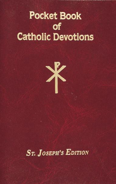 """This Pocket Book of Catholic Devotions offers the most beloved Catholic Devotions. With a flexible cover for easy and repeated use. The book provides many essential Devotions including Devotions to the Sacred Heart, Stations of the Cross, First Saturday Devotions, and the Holy Rosary. Designed to help Catholics grow spiritually and in the Catholic tradition, this Pocket Book of Catholic Devotions is a valuable resource for both those who wish to learn the Devotions and those who are already well-versed in them.  96 pages ~ 4"""" x 6 1/4"""", Flexible Cover"""