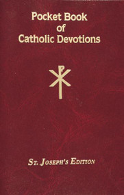 "This Pocket Book of Catholic Devotions offers the most beloved Catholic Devotions. With a flexible cover for easy and repeated use. The book provides many essential Devotions including Devotions to the Sacred Heart, Stations of the Cross, First Saturday Devotions, and the Holy Rosary. Designed to help Catholics grow spiritually and in the Catholic tradition, this Pocket Book of Catholic Devotions is a valuable resource for both those who wish to learn the Devotions and those who are already well-versed in them.  96 pages ~ 4"" x 6 1/4"", Flexible Cover"