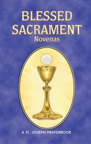 "Blessed Sacrament Novenas is a helpful, illustrated booklet filled with the most popular Novenas in honor of the Blessed Sacrament. Purse- or pocket-size and printed in two colors for anywhere, anytime prayer, Blessed Sacrament Novenas is a 64-page, easy-to-use source of inspiring Novenas to the Blessed Sacrament. 4"" x 6 1/4"""