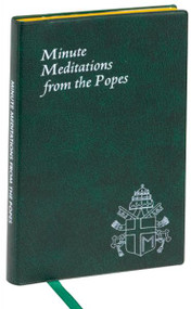 """Minute meditations for every day of the year, using the words of twentieth-century Popes. Printed and illustrated in two colors. Includes ribbon marker. 192 pages ~ 4 X 6 1/4"""""""