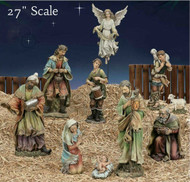 Large Colored Outdoor Nativity Collection