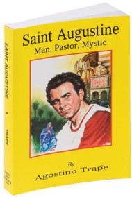 "Authored by world-renowned scholar, Rev. Augustine Trape, O.S.A., St. Augustine is a comprehensive biography of one of the Church's greatest and most quoted Saints. From the Saint's youthful wanderings away from the Church to his mother's prayers for his conversion and his eventual embrace of Catholicism, St. Augustine provides a wealth of information. With an illustrated, flexible cover for easy use, St. Augustine paints an informative portrait of this extraordinary African Saint who defended and extended the reach of the fourth and fifth century Church. 5 1/2"" X 8"" ~ 384 pages ~ Flexible Cover"