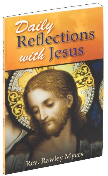 """A beautifully illustrated prayerbook containing thirty-one prayerful reflections with Jesus for each day of the month. Daily Reflections With Jesus is a prayer book you will return to again and again as you draw closer to Our Lord in your prayer journey. 96 pages ~ 4"""" x 6 1/2"""" ~ Flexible Cover"""