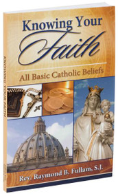 "Knowing Your Faith is a short Catechism of Catholic teachings, practices, and worship, arranged in a well-organized question-and-answer format. This illustrated Catechism also includes brief instructions to enhance the presentation of the basics of the Catholic Faith. Knowing Your Faith is intended for both adults and high school students and thus would be ideal for adult religious education as well as youth courses. 4 3/4"" x 6 3/4"" ~ 160 pages ~ Flexible Cover"