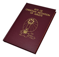 "The Rite of Christian Initiation of Adults  contains the latest translation of the Rite of Christian Initiation by the International Commission on English in the Liturgy plus the additional sections inserted by the United States Bishops. Includes appendices with acclamations, hymns, songs, and the National Statutes for the Catechumenate. The format and presentation of each of the rites have been arranged for the convenience of the celebrant, with two-color printing and highly readable 14-pt. type. The Rite of Christian Initiation of Adultsfeatures stained page edging and an elegant red gold-stamped cloth cover.  432 pages ~ 7 1/4"" x 10 1/4"""