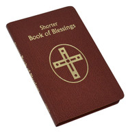 "565/10 Brown simulated Leather.  The Shorter Book of Blessings is a handy-size edition of the larger Book of Blessings that includes only the blessings that are celebrated outside Mass. It contains the New American Bible translation for all Scripture readings to ensure conformity with the Catholic liturgical Lectionary. This handy liturgical resource is printed in two colors, with each blessing set in easy-to-read sense lines and carefully arranged for the celebrant. The Shorter Book of Blessings is bound in flexible brown simulated leather. 576 pages ~ 4 3/8"" x 6 3/4"""