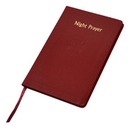 "This handy-sized edition of Night Prayer provides the last prayer of one's day from the Liturgy of the Hours. Each day includes an introduction, the examination of conscience, an appropriate hymn, a psalm (or psalms) with accompanying antiphon and psalm-prayer, a short reading and response, the Gospel Canticle of Simeon, and a concluding prayer, final blessing and antiphon in honor of Mary. Printed in two colors and bound in a flexible maroon simulated leather cover. 96 pages ~ 4 3/8"" x 6 3/4"""