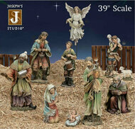 "39"" Color Resin-Stone Outdoor Nativity Collection Individual Pieces & Small Sets Available for Purchase"