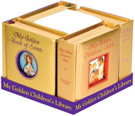 "A perfect and meaningful gift for any child. Four of our Golden Children's Books specially packaged in order to display all titles and the beauty of their golden padded covers and gilded edges. Each book has 42 pages.  CPSIA compliant. Measures 5-1/8 X 5-1/8"" Padded Hardcover, 42 pages Golden Book of Mary, Prayers, the Bible, & the Saints"