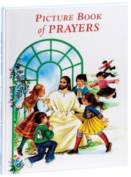"Picture Book of Prayers contains an invaluable treasury of prayers for children. Prayers for major feasts, special occasions, preparation for receiving the sacraments, some beloved psalms, even such everyday activities as playing with one's pets all find prayerful expression in easy language in Picture Book of Prayers. This beautiful book of children's prayers is illustrated and bound in durable cloth ensuring years of use by the younger members of the Catholic family. Measures 7 3/4"" X 10 1/2"" Hardcover, 64 pages"