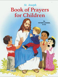 """St. Joseph Book of Prayers for Children is a beautifully illustrated book that introduces children to prayer. Compiled by popular author Rev. Lawrence G. Lovasik, SVD, the Book of Prayers for Children includes prayers for each day, along with prayers to the Trinity, to the saints and angels, and prayers for family and friends Measures 5 1/2"""" X 7 3/8"""" Hardcover, 64 pages"""