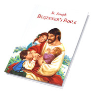 "St. Joseph Beginner's Bible by esteemed author Rev. Lawrence G. Lovasik  contains over 40 Bible stories told in simple, clear language and fully illustrated in vibrant color for young children to get them started on their journey with the Bible.  All children will love to read this pocket-size hardcovered book.Gift boxed. CPSIA compliant.  Measures 4 3/8"" X 6"" ~ 96 pages. Perfect gift for a child!"