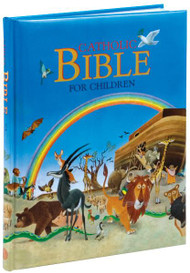 "Over 75 Bible stories for children, richly illustrated in full color. From the story of creation to the travels of St. Paul, this volume will educate and delight children.  Measures 8 1/2"" X 11"" ~ 144 pages ~ Padded Hard Cover. Perfect gift for a child!"