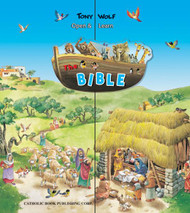 "The Open and Learn Bible opens to a panoramic view of 12 books that tell important stories from the Old and and New Testaments. The books are perfect for small hands; the stories are simply told to inspire big imaginations. Each book has 8 pages.  Measures 12 7/8"" X14 1/4"" ~ 8 pages  Perfect gift for a child!"