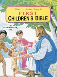 "Over fifty of the best-loved stories of the Bible, vividly retold for children. Each story is in simple language and captured in a full-color, superbly inspiring illustration. A perfect book for introducing very young children to the Bible. 96 pages ~ 5 1/2"" x 7 3/8"" ~ Hardcover"
