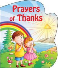 "Prayers of Thanks is one of four in the series of St. Joseph Sparkle Books. This series of board books adds a bit of wonder to a child's day with a combination of foil-stamping and sparkle on the cover and expressive, colorful illustrations throughout. Prayers of Thanks helps children give praise and thanks for God's many gifts. Perfect as a gift for God's littlest Catholics! CPSIA compliant. 14 pages ~ 5 1/2"" x 6 3/4"""