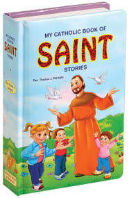 "My Catholic Book of Saint Stories is filled with sweet, eye-catching illustrations. This chunky but lightweight book introduces children to 13 Saints in words and pictures that will delight them. 26 pages ~ 6"" x 9"""