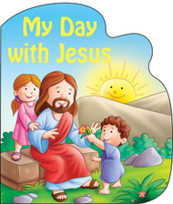"My Day With Jesus is one of four in the series of St. Joseph Sparkle Books. This series of board books adds a bit of wonder to a child's day with a combination of foil-stamping and sparkle on the cover and expressive, colorful illustrations throughout. My Day with Jesus helps children give praise and thanks for God's many gifts. Perfect as a gift for God's littlest Catholics! CPSIA compliant. 14 pages ~ 5 1/2"" x 6 3/4"""