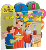 "Celebrating Mass by popular author Rev. Thomas J. Donaghy is a short board book to introduce young children to the Mass. The tabs help children pick out elements in each of the spreads, making this book an interactive experience. Celebrating Mass contains bright, vibrant, and contemporary illustrations that will make this book an enjoyable learning experience for young Catholic children.  Hardcover ~ 12 pages ~ 9 1/2"" x 9 1/2"""