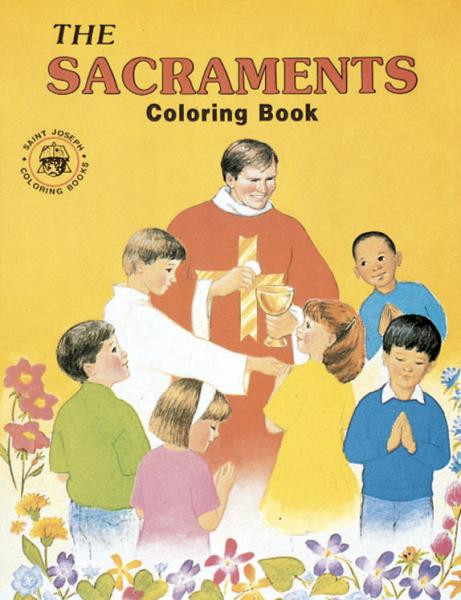 """A fun and creative way for children to learn about the Seven Sacraments, signs of God's love for us. Adapted from The Seven Sacraments St. Joseph Picture Book by Rev. Lawrence G. Lovasik, S.V.D., and illustrated by Paul T. Bianca. 8 1/2"""" x 11"""" ~ 32 pages"""