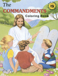 "A fun and creative way for children to learn about the laws of God that were given to Moses. Adapted from The Ten Commandments  St. Joseph Picture Book by Rev. Lawrence G. Lovasik, S.V.D., and illustrated by Paul T. Bianca. 8 1/2"" x 11"" ~ 32 pages"