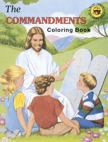 """A fun and creative way for children to learn about the laws of God that were given to Moses. Adapted from The Ten Commandments  St. Joseph Picture Book by Rev. Lawrence G. Lovasik, S.V.D., and illustrated by Paul T. Bianca. 8 1/2"""" x 11"""" ~ 32 pages"""