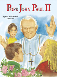 St Joseph Picture Books ~ This children's book on one of the most beloved Popes in the history of the Church begins with his birth near Krakow, Poland. It covers many significant events in his life prior to his election as Pope in 1978 as well as important contributions and events during his papacy. Beautiful new illustrations capture many key moments in his extraordinary life. Part of a magnificent series of religious books that will help celebrate God's love for us and help all children better understand the Catholic faith. Simply written by Rev. Jude Winkler, CONV. 5 1/2 X 7 3/8 ~ Paperback ~ 32 pages