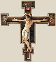 "Joseph's Studio -The  Renaissance Collection. This exquisite Florentine Crucifix ismade of Resin/Stone. Dimensions: 10.25""H x 9.25""W x 1.38""D"