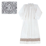 """Perma Press Alb, 65% Poly 35% Combed Cotton with 5"""" Lace insertion.  Matching Square Yoke Surplice available. See sizing chart on product description page.  Matching Square Yoke Surplice (1215S) also available"""